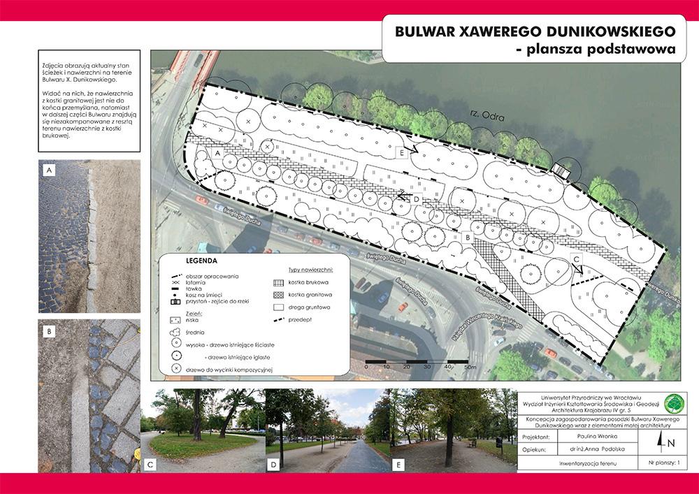 PORTFOLIO AK - Projekt nawierzchni na Bulwarze Dunikowskiego we Wrocławiu 1