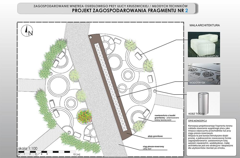 PORTFOLIO AK - Projekt zagospodarowania wnętrza osiedlowego 1