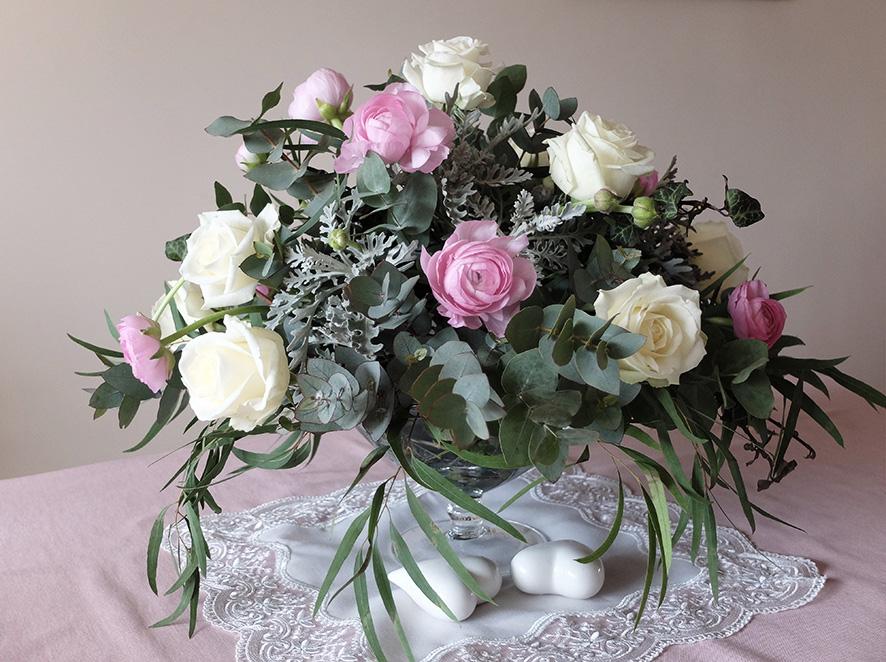 PORTFOLIO Florystyka Pastelowa dekoracja stołu 1