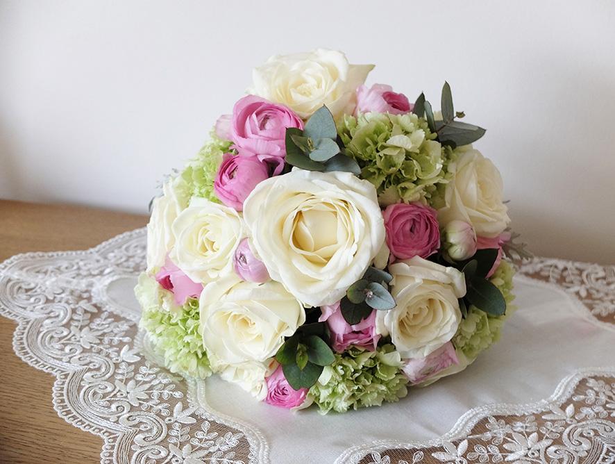 PORTFOLIO Florystyka - Pastelowy bukiet ślubny 1