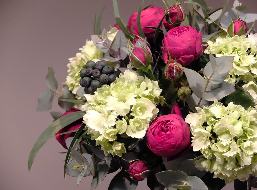 PORTFOLIO Florystyka - Różany bukiet ślubny 1