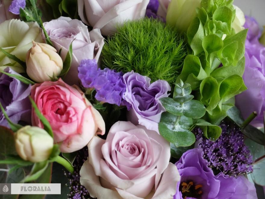 Dekoracje ślubne fiolet i męta FLORALIA 01