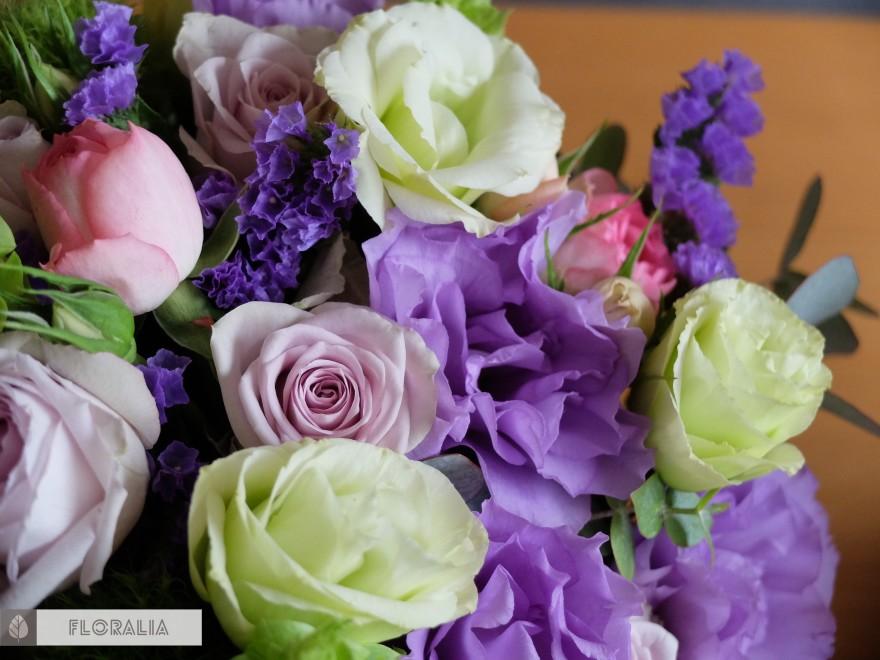 Dekoracje ślubne fiolet i męta FLORALIA 02
