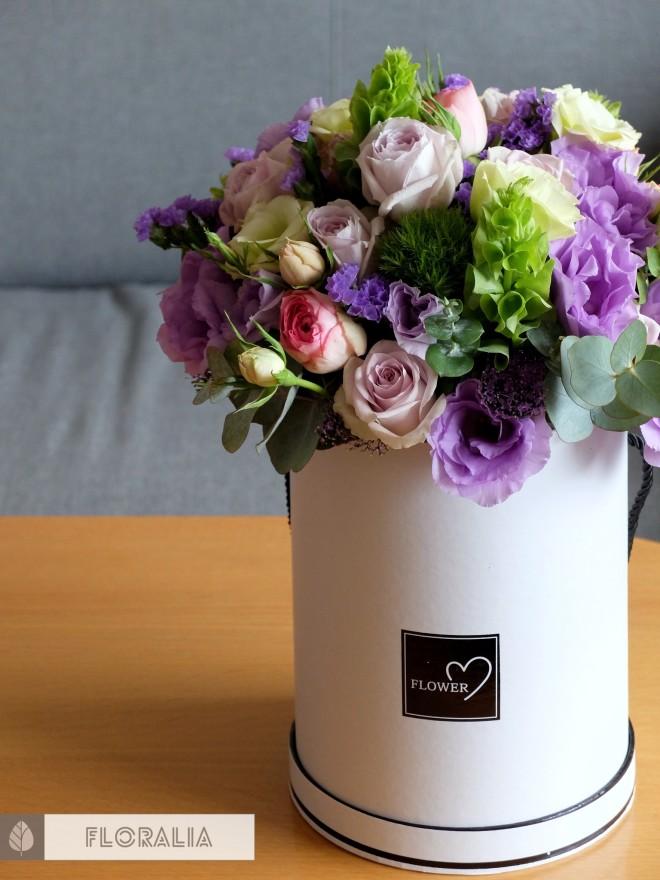 Dekoracje ślubne fiolet i męta FLORALIA 03