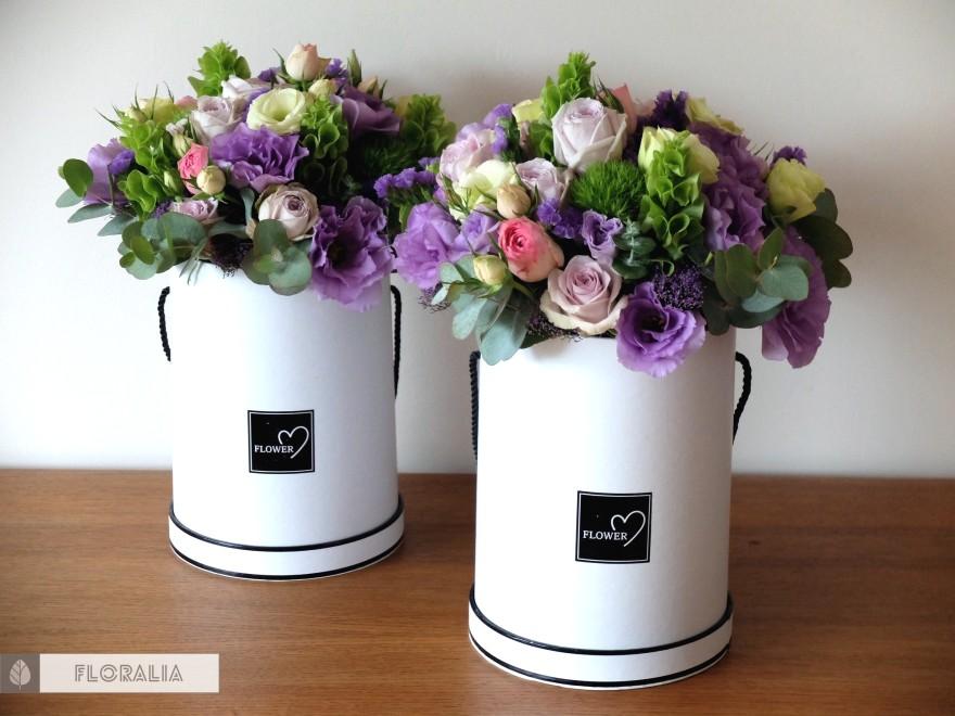 Dekoracje ślubne fiolet i męta FLORALIA 04