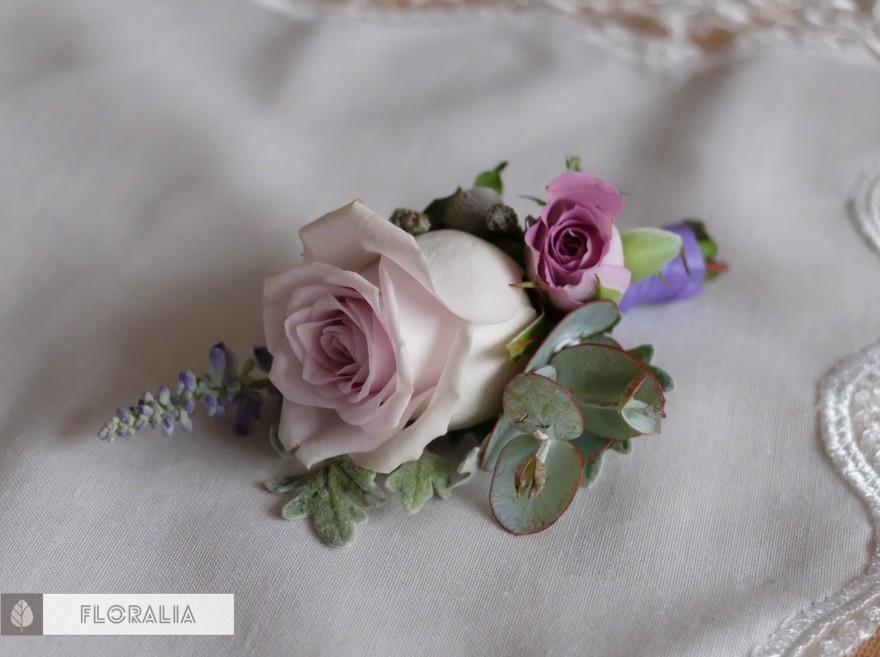 Dekoracje ślubne fiolet i męta FLORALIA 05
