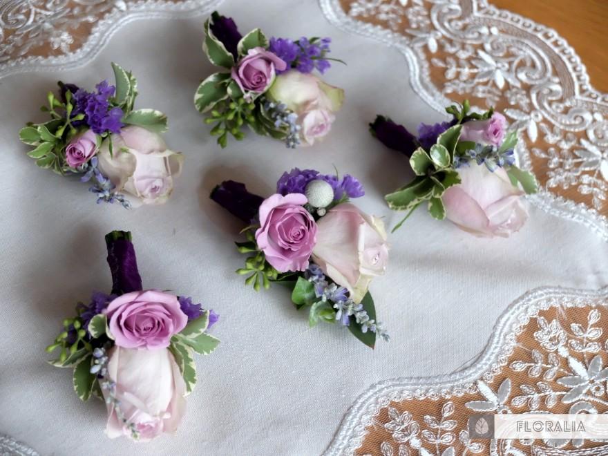 Dekoracje ślubne fiolet i męta FLORALIA 06
