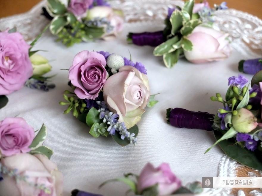Dekoracje ślubne fiolet i męta FLORALIA 07