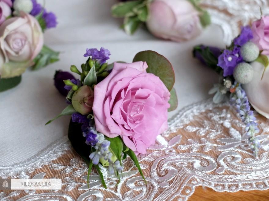 Dekoracje ślubne fiolet i męta FLORALIA 08