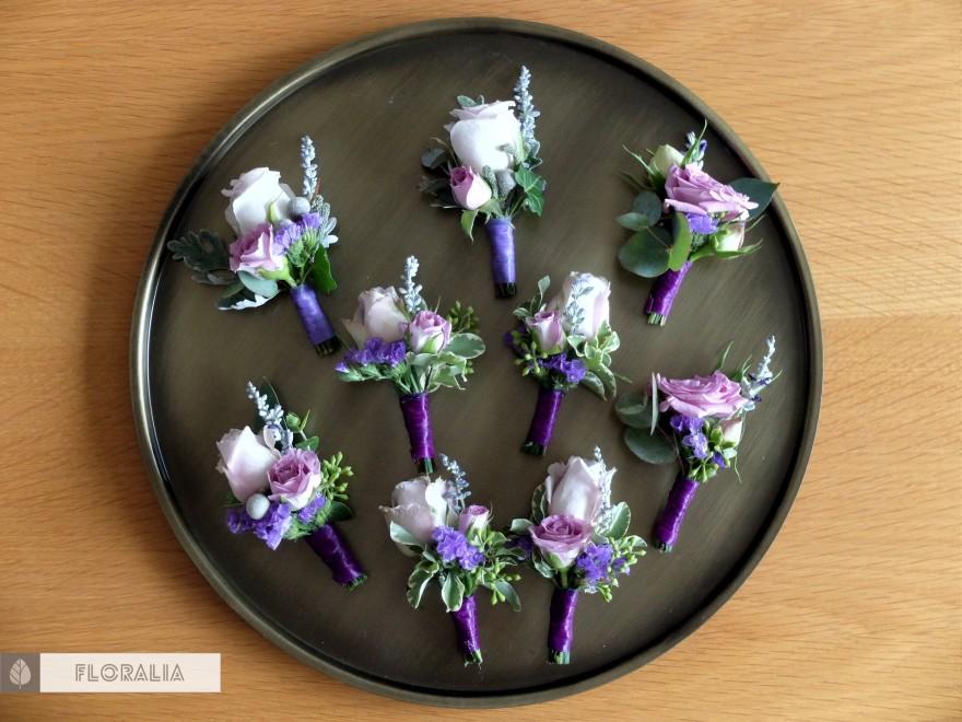 Dekoracje ślubne fiolet i męta FLORALIA 09