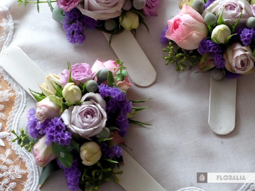 Dekoracje ślubne fiolet i męta FLORALIA 10