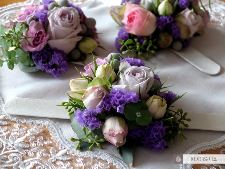Dekoracje ślubne fiolet i męta FLORALIA 11