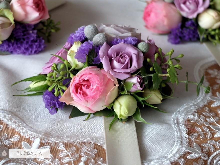 Dekoracje ślubne fiolet i męta FLORALIA 13