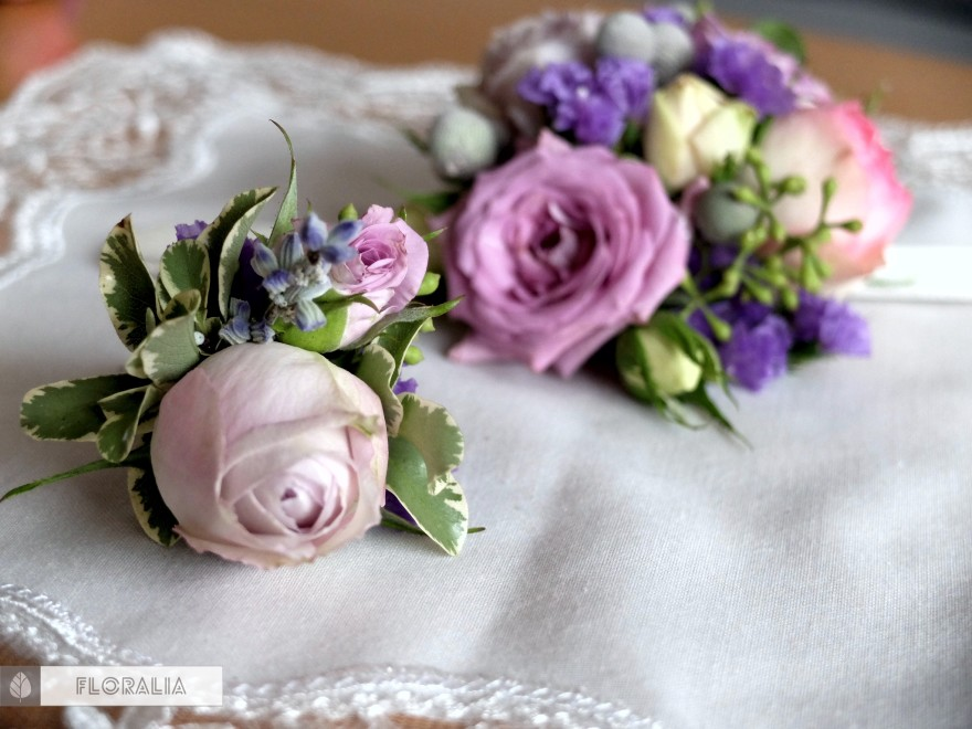 Dekoracje ślubne fiolet i męta FLORALIA 14