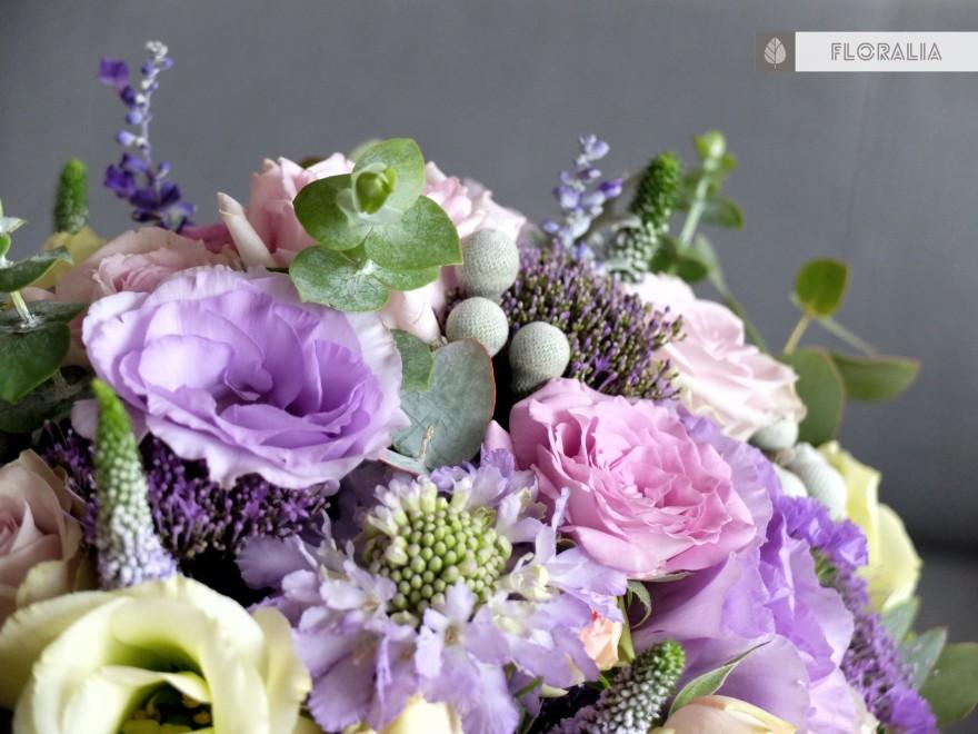 Dekoracje ślubne fiolet i męta FLORALIA 20