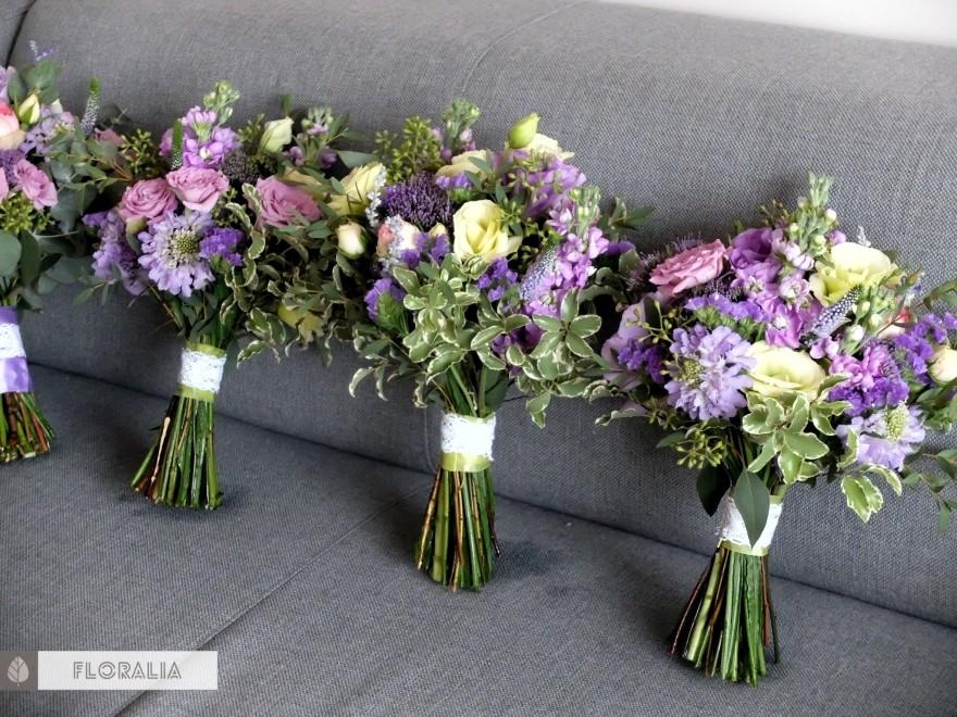 Dekoracje ślubne fiolet i męta FLORALIA 23