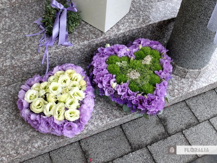 Dekoracje ślubne fiolet i męta FLORALIA 24