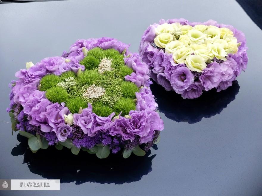 Dekoracje ślubne fiolet i męta FLORALIA 25