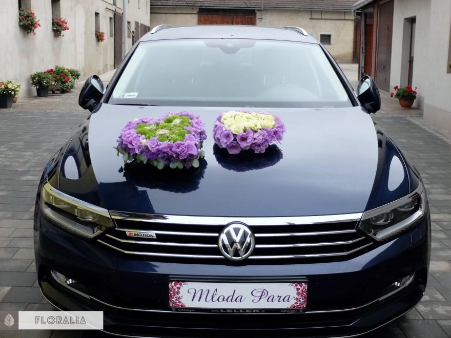 Dekoracje ślubne fiolet i męta FLORALIA 26