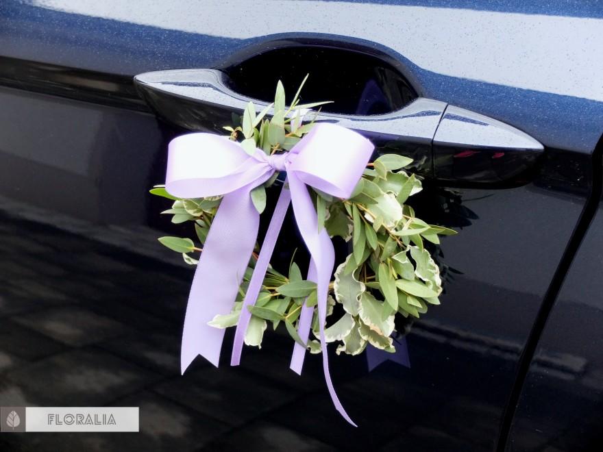 Dekoracje ślubne fiolet i męta FLORALIA 27