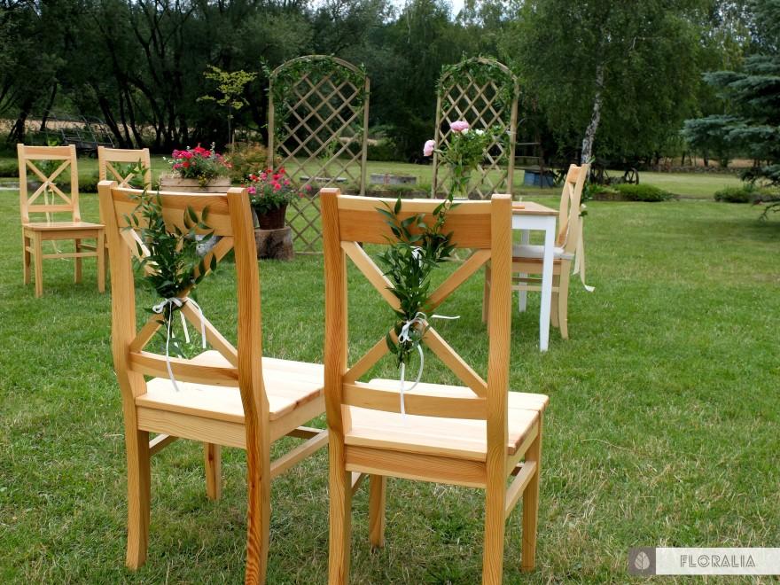 Dekoracje krzeseł ruskus FLORALIA 01