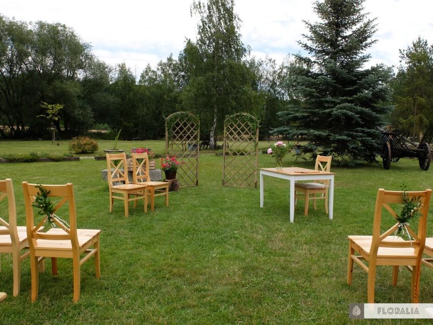 Dekoracje krzeseł ruskus FLORALIA 03