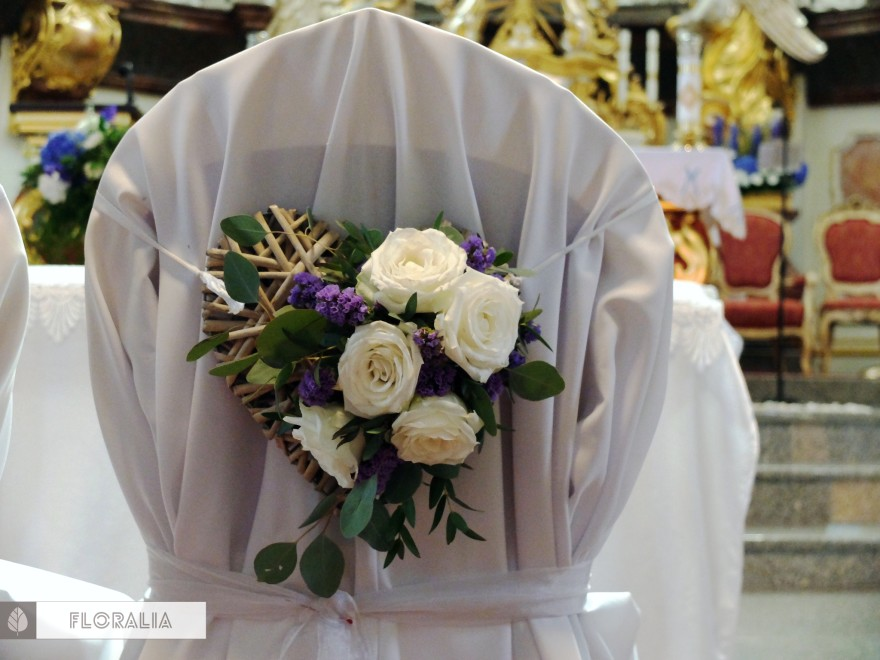 Dekoracje z hortensją w kolorze ciemnoniebieskim FLORALIA 13