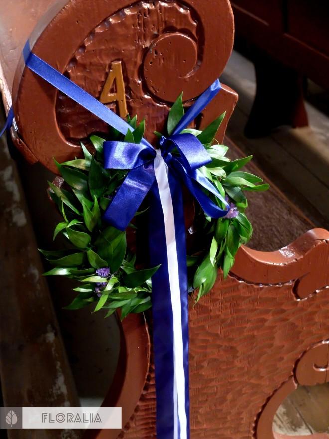 Dekoracje z hortensją w kolorze ciemnoniebieskim FLORALIA 17