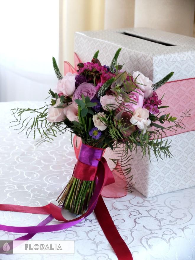 Wesele radiant orchid wianek_Bukiet ślubny Floralia 10