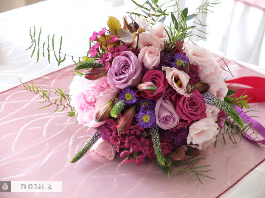Wesele radiant orchid wianek_Bukiet ślubny Floralia 14