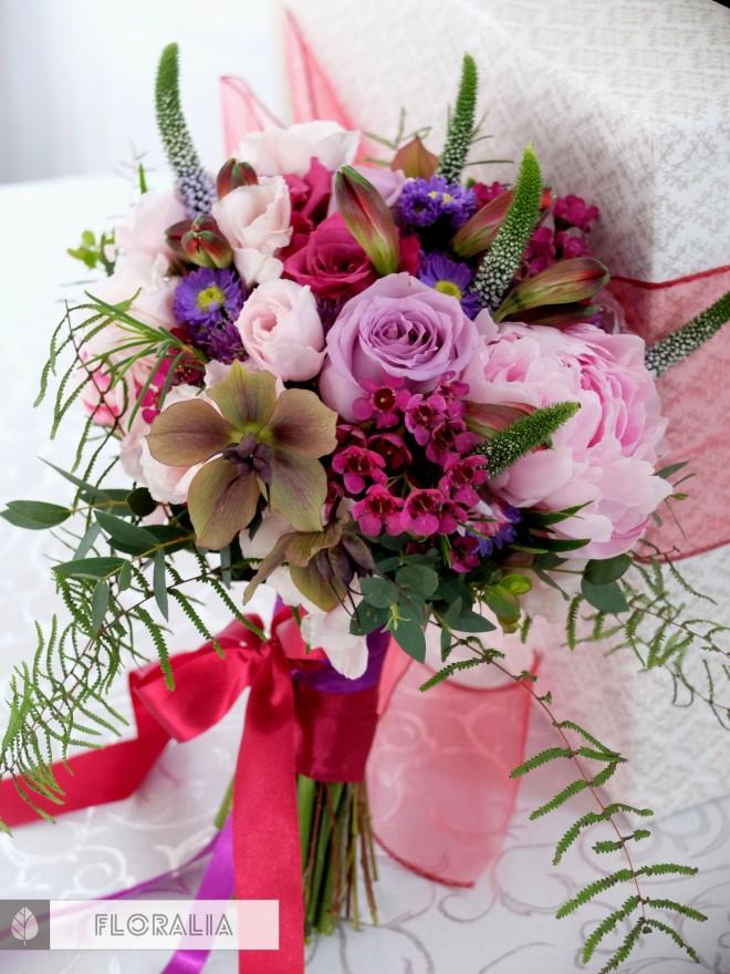 Wesele radiant orchid wianek_Bukiet ślubny Floralia 15