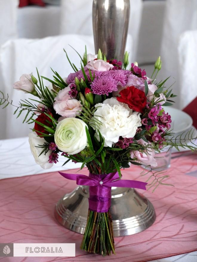 Wesele radiant orchid wianek_Bukiet druhny Floralia 11