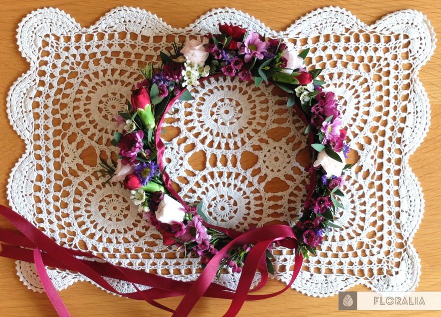 Wesele radiant orchid wianek_Floralia 1b